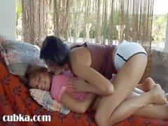 Russian lesbian babysitters