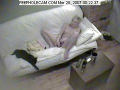 Hidden Cam - Girl Masturbates With Large Dildo