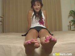 Upskirts and Asian feet