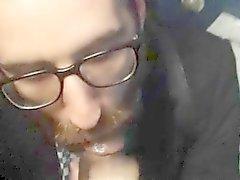 Vasca ragazzo con la barba succhiare tizio pubblico Restroom