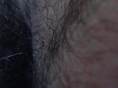 Orgasm sammandragningar av analhål (närbild)