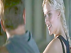 Scarlett Johansson naked treading water, her body obscured