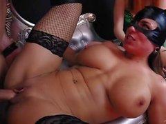 Batman: Enslaved Crusader! Cosplay Orgy w/ Catwoman Poison Ivy & Joker Girl