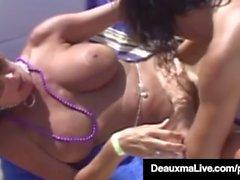 Texas Cougar Deauxma & Hubby Osallistu Swinger Party - SEX!