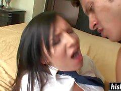 Schoolgirl gets a good deep slamming