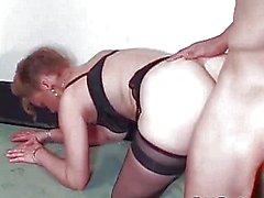 She sucked his cock with passion before hard doggy banging