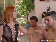 Edyn dominates, humiliates, and severely destroys her Cuckolds