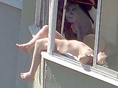 public sunbathing