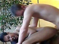 Asian cums over himself