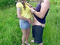 Real outdoor sex movie with pretty chick