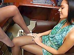 Pantyhose lesbian sniff 3