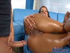 Francesca rubs her clitoris