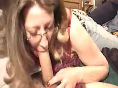 Glass sporting wife giving suck