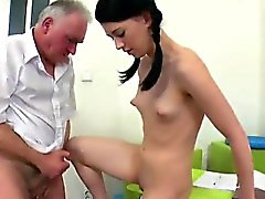 Sultry schoolgirl is seduced and banged by her older schoolt