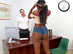 Girl Hot jode con su jefe
