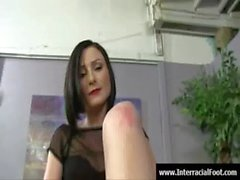 Sexy babes foot fetish sex - jerking cock with their feet 30