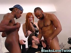 Dude jizzed Ebony sauva