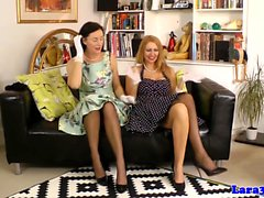 Classy british milf lesbians in stockings