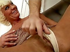 Hairy Blonde Mature With French Guy BVR