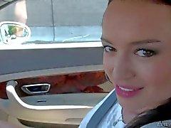 Franceska Jaimes sucks Manuel Ferrara in car