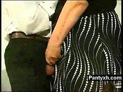 Phat Booby Pantyhose Fetish Slut Rammed