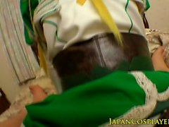 Asian cosplay babe cocksucking and fucking