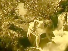 Vintage Erotik Film 7 - Waterfall 1920'de Nude Girl