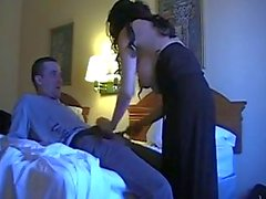 brunette mom fucks not her son