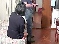 A woman pretense failure television at the hotel