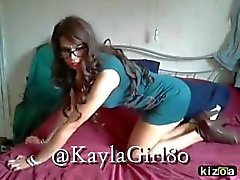 KaylaGirl80 - Sexy Crossdresser moves for you xx