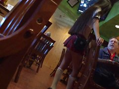 Sexy Asian waitress