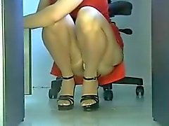 Voyeur sexy Secretary in Office