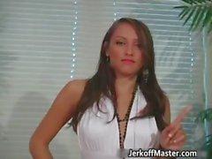 Nasty brunette girl shows her naked part6