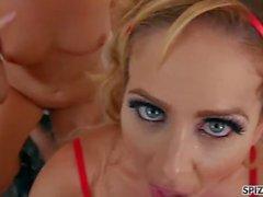 Spizoo - Marcos y Aaliyah Love folla Cherie Deville, la penetración doble