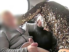 Lady anal fucking on security cam in fake taxi