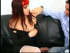 Piercing girl playing dildo and blowjob