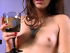 Fabulous raven haired girl with hairy twat gets nasty