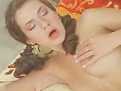 beautiful russian brunette assfucked and facialized