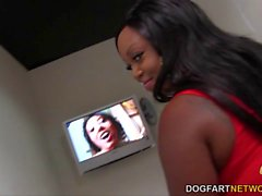 Jayden Starr gets creampied by white Gloryhole D