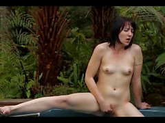 Masturbating Her Junk in the Pool WF