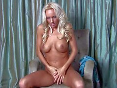 Blonde Cody Love enjoys in her hot solo session