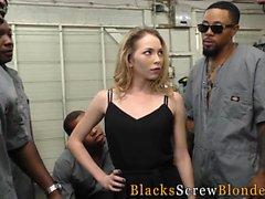 Ho interracial gangbanged