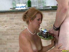 Joss shows off her cock sucking skills.