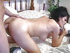 Raunchy fuckslut Jeanna Fine gets her tight moist snatch shagged hard from behind