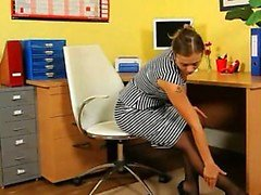 Ultra sexy secretary undress in office