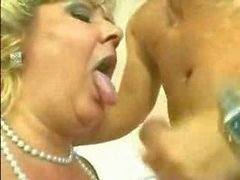 German BBW Granny fucked