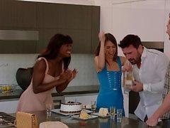 VIXEN Riley Reid has Intense Threesome with Ana Foxxx