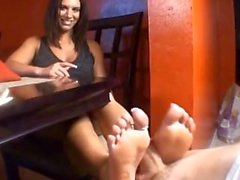 Birthday surprise footjob