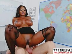 Obnoxious Stepmom Ebony Diamond Jackson, Creampie In Stockings
