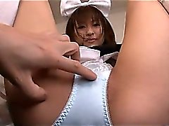 Japonca Maid bir Islak Squirting Kedi Has
